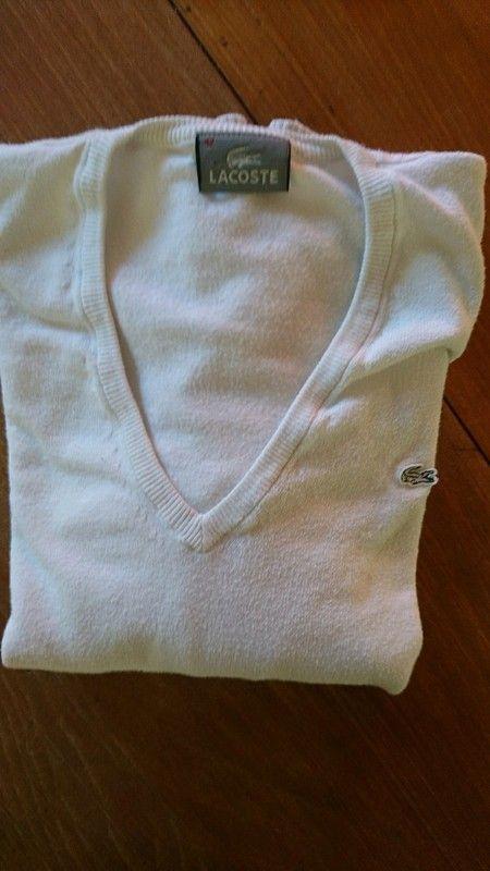 0b4722a2387bb Pull femme blanc lacoste | sur vinted | Shirts, Sweatshirts et Lacoste