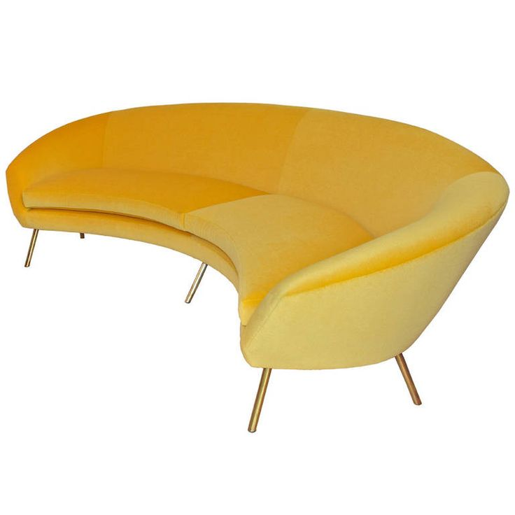 Curved Yellow Leather Sofa: 22 Best Round Couches Images On Pinterest