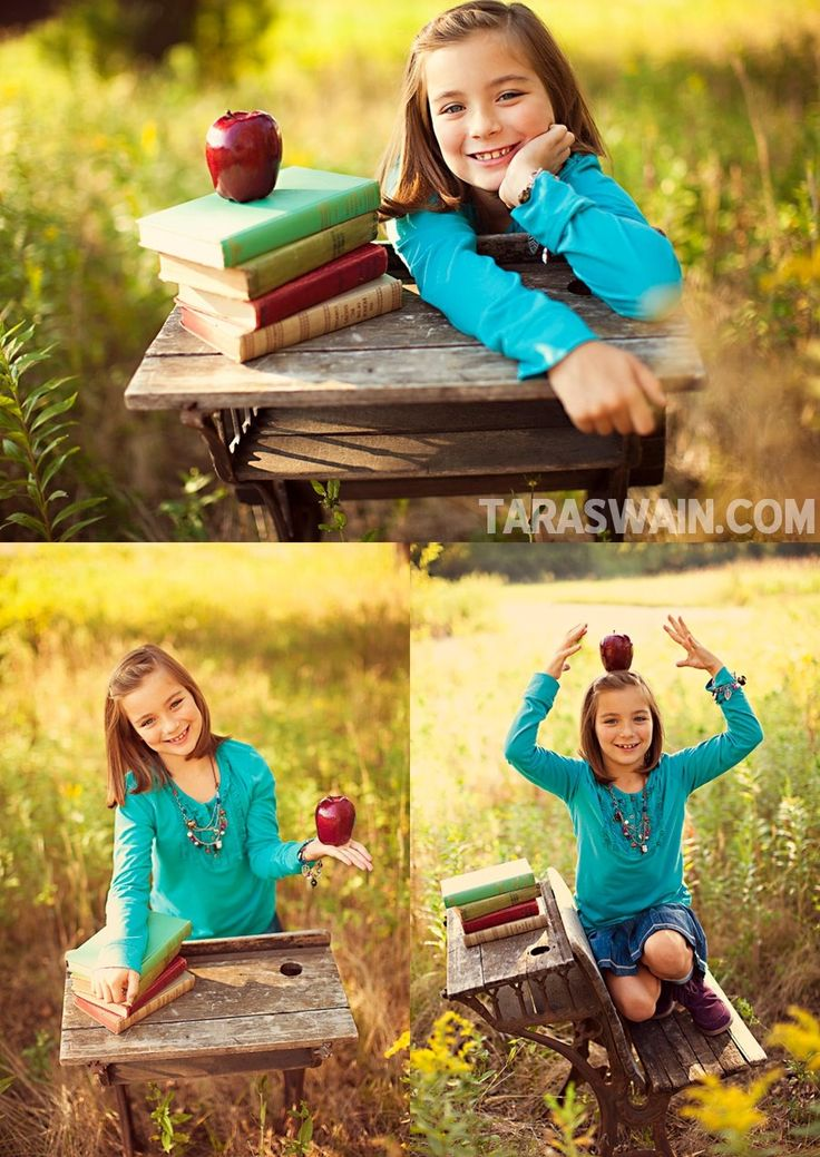 Cute! I have a really cool old desk & vintage books...just need an apple! Photos by Tara Swain