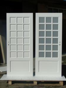 Drzwi drewniane wewnętrzne BIAŁE KRATKA 18 (5976644601) - Allegro.pl - Więcej niż aukcje.