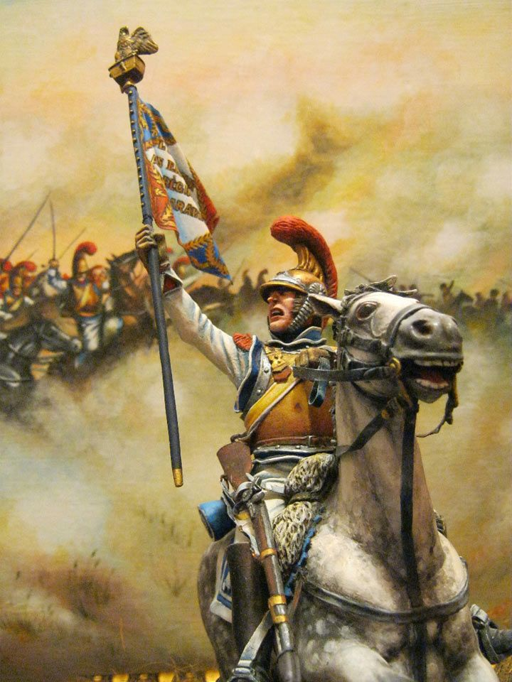 To the Heroes of 1812 (detail):  French carabiniers charge Russians at Borodino, 1812.