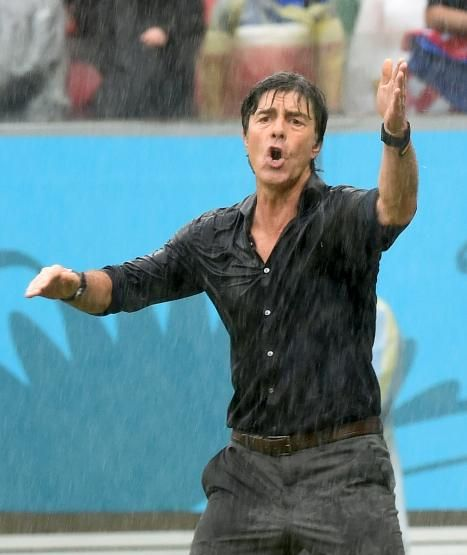 Joachim Löw in the rain