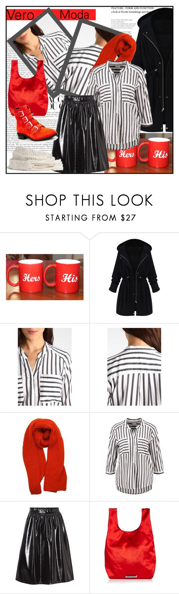 """""""Vero Moda"""" by din-sesantadue ❤ liked on Polyvore featuring WithChic, Vero Moda, HUGO and Kendall + Kylie"""