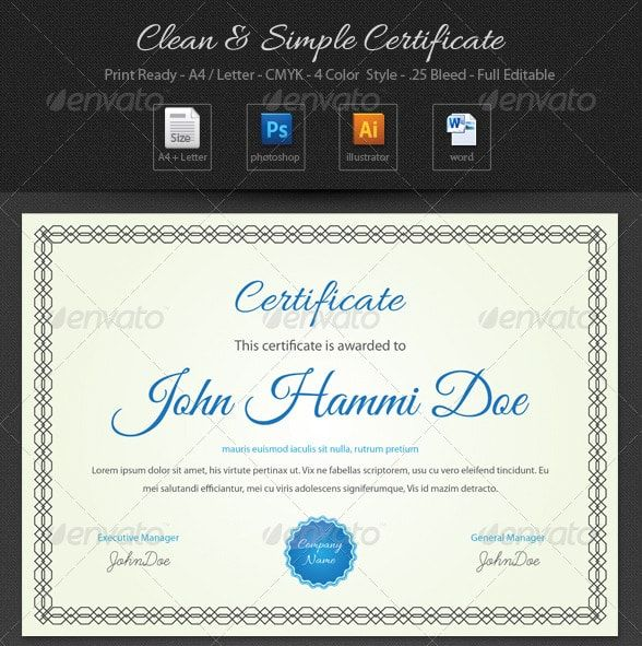 The 25+ best Certificate of participation template ideas on - sample training certificate