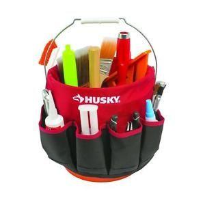 Husky-Mini-Tool-Bag-Small-Tools-Organizer-Red-Polyester-Tools-Bucket-Belt-NEW