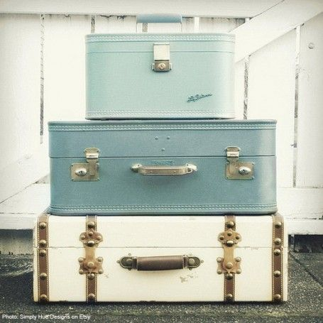 vintage suitcases etsy photo