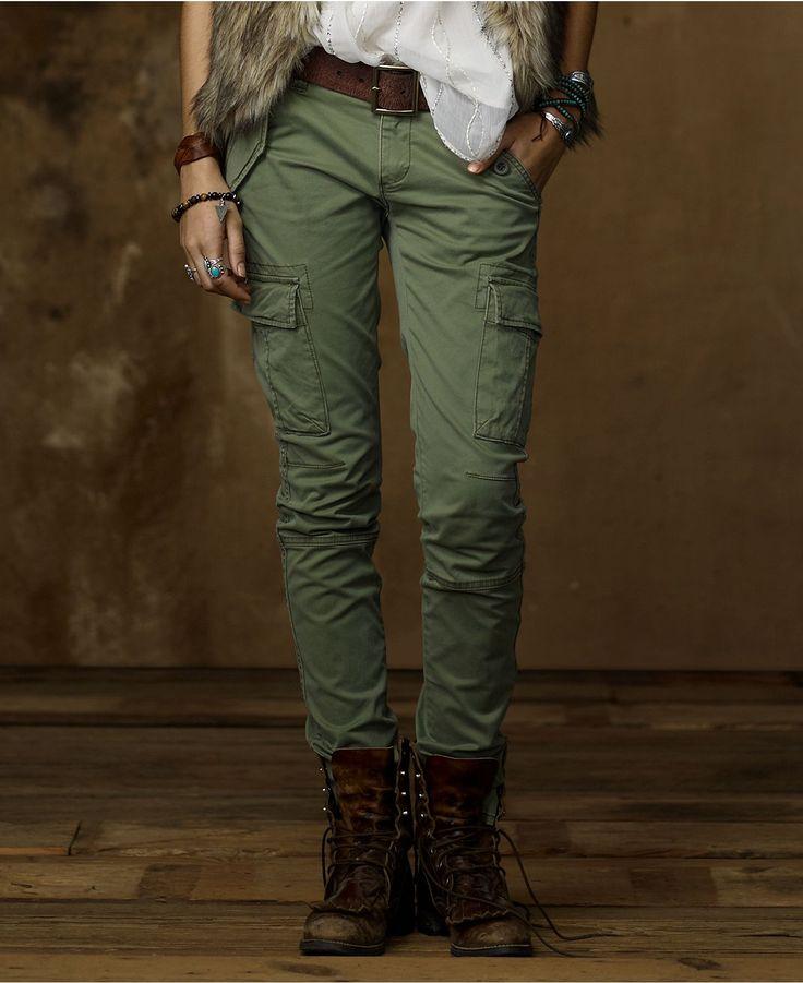 Denim & Supply Ralph Lauren Pants, Skinny Stretch Cargo Pants