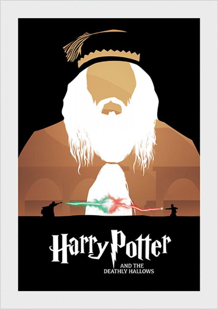 Reliquias da Morte - Harry Potter - Livros | Posters Minimalistas