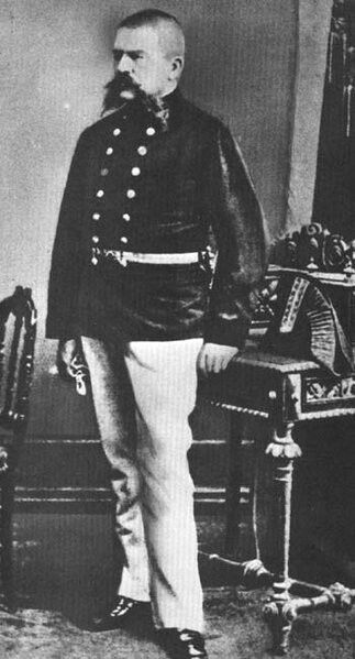 Alois Hitler, Adolf's father.  Adolph became a genocidal prick bent on world domination because he couldn't grow a luxuriant mustache like Dad.