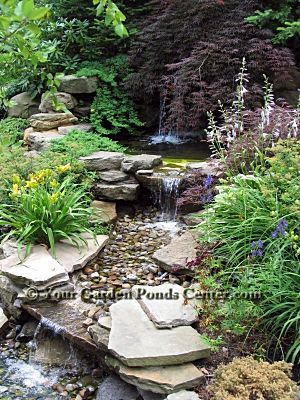 78 images about backyard waterfalls and streams on for Garden pond rockery ideas