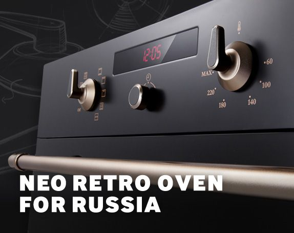 Neo Retro Oven for Russia - Samsung created Neo Retro Oven to emphasize the vintage feeling conveyed by Russia's unique culture and environment.