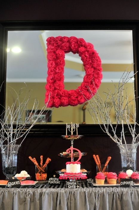 girly glam pink birthday party idea. see more at www.karaspartyideas.com