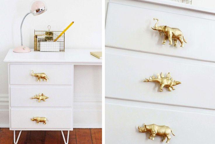 Pomelli per mobili creati con gli animali giocattolo