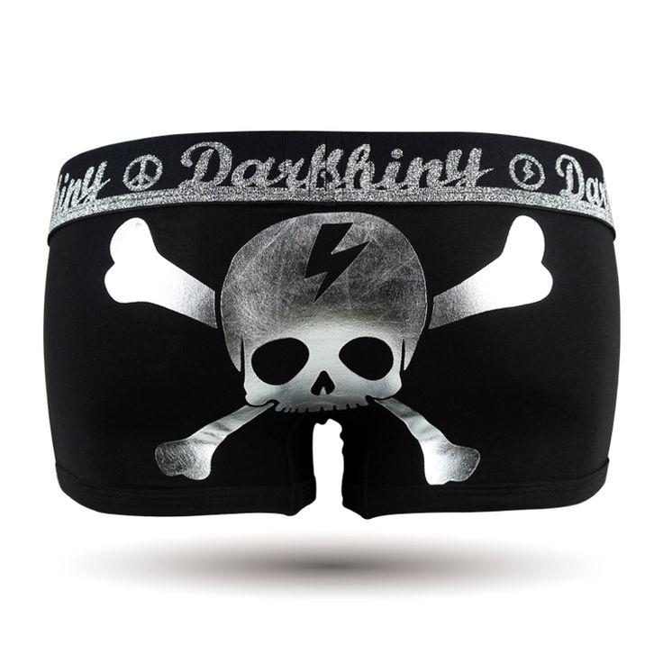 Flashing Skull/レディース/スカル/ドクロ/髑髏/骸骨/ガイコツ/シルバー/銀/ブラック/黒/DARK SHINY (ダークシャイニー) , レディース ファッション アンダーウェア インナー ルームウェア ショーツ #darkshiny #ladysfashion #boxerbrief #underwear