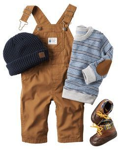 Overalls, little boots, and the sweater with the elbow patch! Perfect fall outfit for my little guy :)... - Overalls, little boots, and the sweater with the elbow patch! Perfect fall outfit for my little guy - http://progres-shop.com/overalls-little-boots-and-the-sweater-with-the-elbow-patch-perfect-fall-outfit-for-my-little-guy/