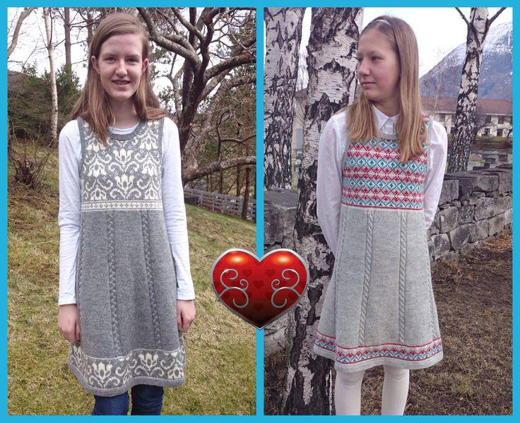 Kjoler i samme grunnmønster