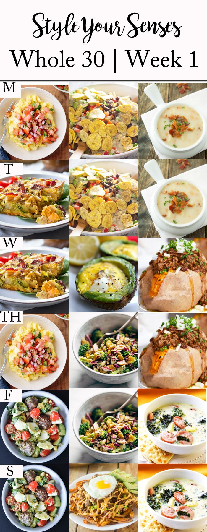 Sharing my Whole 30 Week 1 meal plans, plus I'm confessing why I desperately need a lifestyle change when it comes to food!