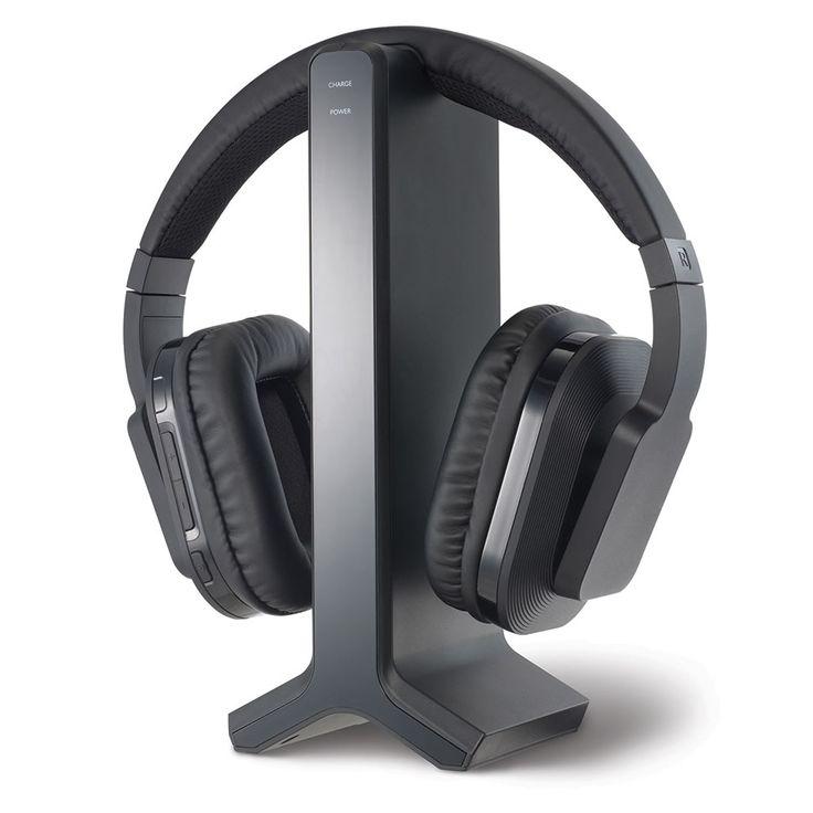 The Long Range Wireless TV Headphones - Hammacher Schlemmer