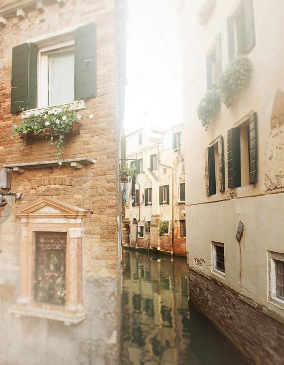 Venice Canals, Italy Photography, Landscape Art, Travel Photograph - Wall Art Print, Photos of Venice, Photographic Print, Italy Home Decor #italyphotography