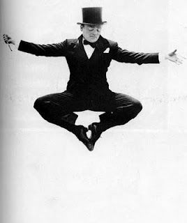 James Cagney mid-air....he was an amazing dancer before he was a 'tough-guy'.