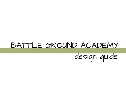 """Check out new work on my @Behance portfolio: """"Battle Ground Academy Design Guide"""" http://on.be.net/1MD3RNI"""