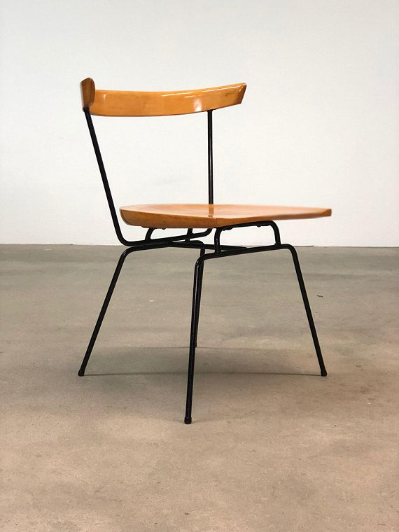 Mid Century Iron Patio Chairs: Paul McCobb Iron And Birch 1535 Chairs Mid Century Iron
