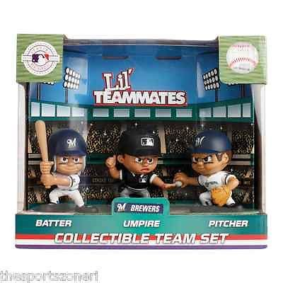 Milwaukee Brewers Lil Teammates Batter, Pitcher and Umpire Team Set Visit our ebay Store  www.thesportszonetoo.com