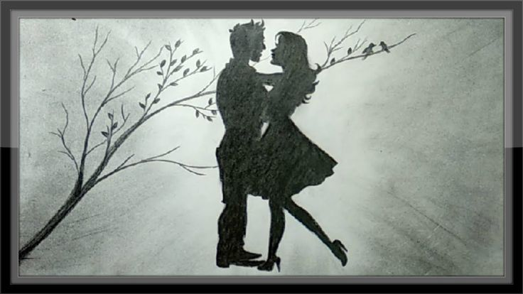 Pencil Drawing Romantic Scenery The Love Draw Step By Step ...