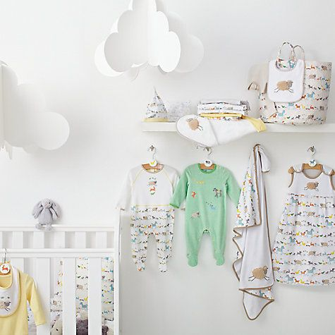 Keep your little lamb snug and comfy with our John Lewis Farmyard nursery & baby clothing range.