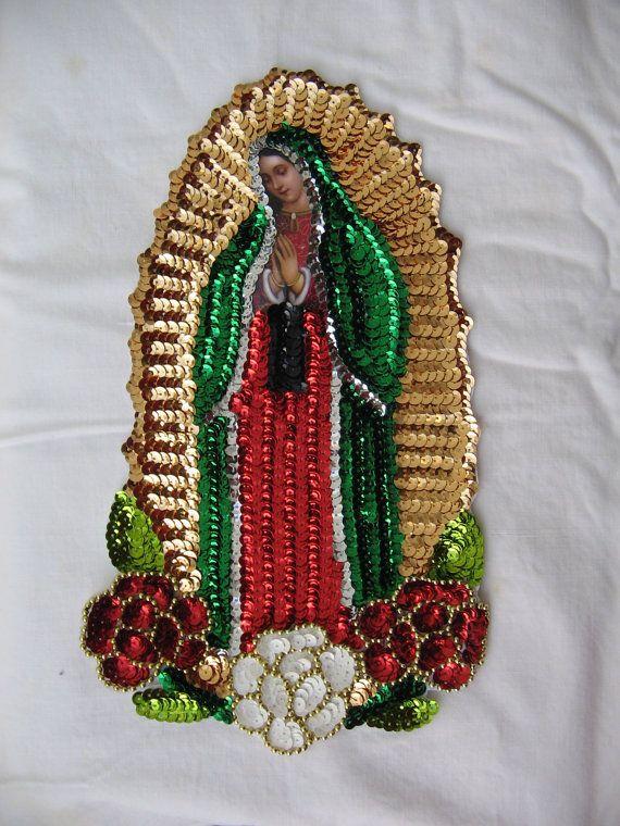 Lady Of Guadalupe Applique Virgen De Guadalupe Sequin