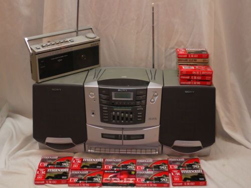 Sony Boombox Radio Cassette Tapes Cfm 15 Cfd Zw750 Stereo
