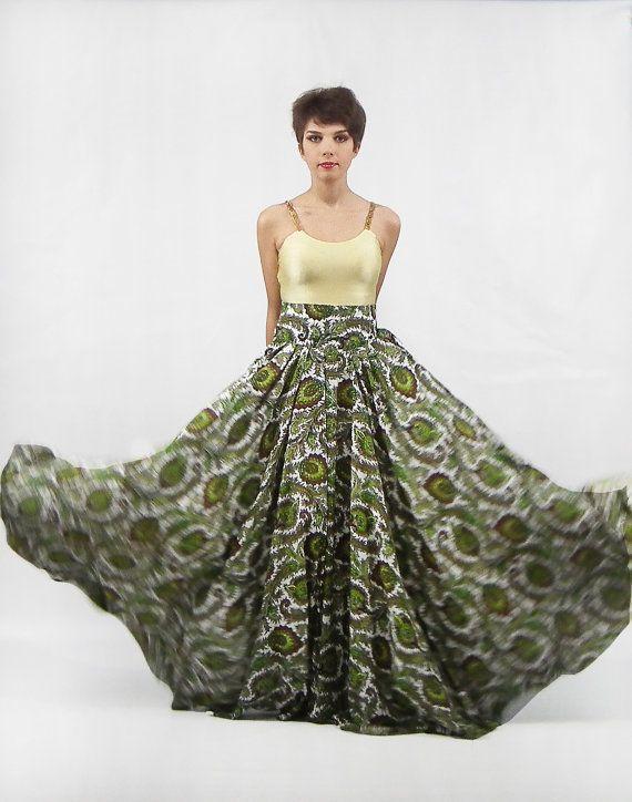 Maxi Skirt , Long Skirt, Floor length skirt, Floral skirt, Full ...