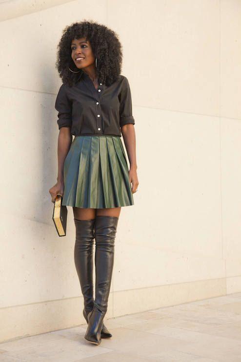 17 Best ideas about Leather Midi Skirt on Pinterest | Pleated midi ...