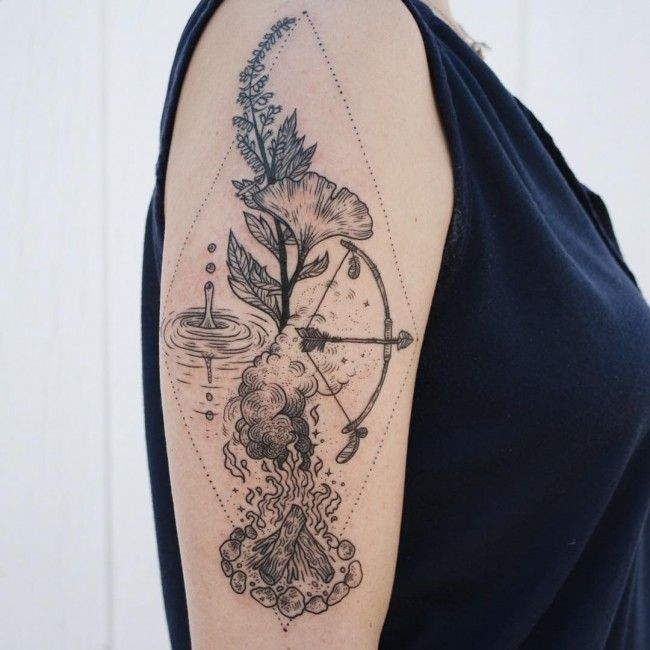 224 Most Attractive Flower Tattoos Of All Time nice