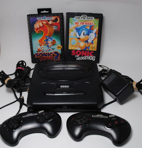 Sega Genesis Console with Sonic Games