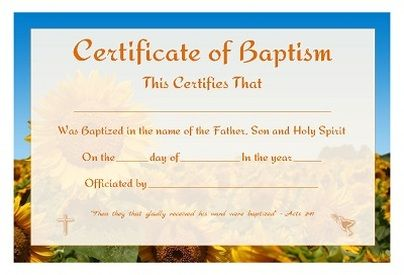free printable certificate of baptism