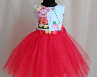 Hermoso pez rojo/blanco Peppa Pig cumpleaños por SugarShopDress