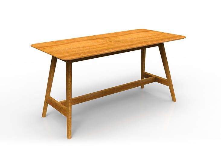 OSLO Bar Leaner with veneer table top, perfect for  the modern workspace (SKU21)