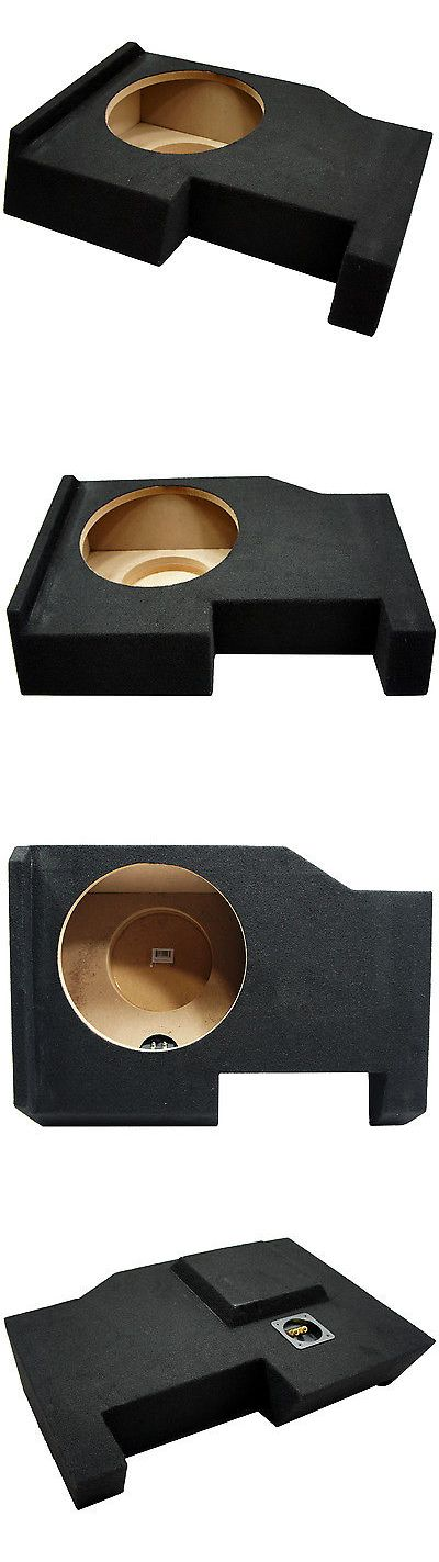 Speaker Sub Enclosures: 2014 - Up Chevy Silverado Crew Cab Truck Single 10 Sub Box Subwoofer Enclosure BUY IT NOW ONLY: $69.99