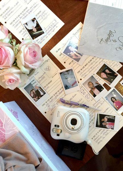 gästebuch mit steckbrief für hochzeitsgäste von ja-sagerin auf DaWanda.com