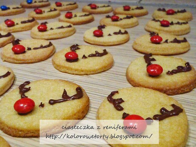 kruche ciasteczka - renifery