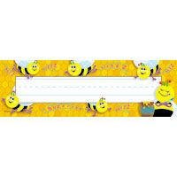 LOTS Of Cute Bee Classroom Supplies On This Site Busy Bees Desk ToppersR Name