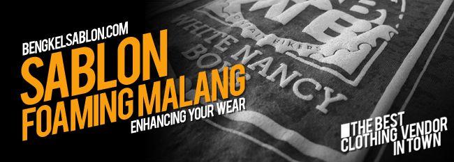 Jasa Sablon Foaming Malang Murah. Melayani Produksi Kaos, Kemeja, Polo Shirt, Jersey Bola - Jersey Futsal, dengan Harga Murah. Selengkapnya Klik disini... http://bengkelsablon.com/sablon-malang/sablon-foaming-malang/