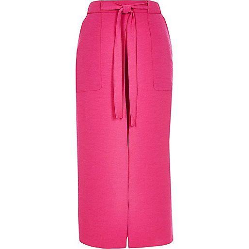 RI £32 Hot pink utility midi skirt