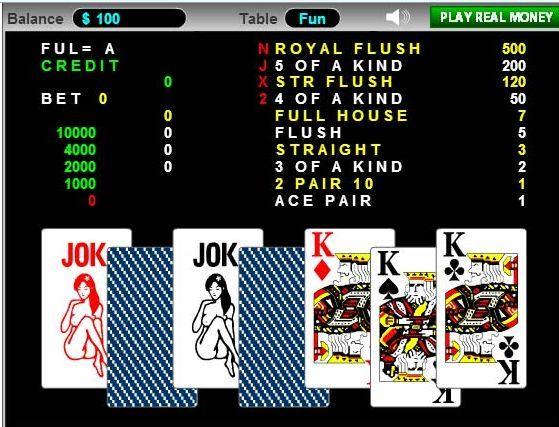 Panduan Bermain Bola Tangkas Online | Cara permainan bola tangkas di mulai dengan pengisian kredit, dan tekan DEAL/MAIN untuk mengeluarkan awal 2 kartu dari total 7 buah kartu. Dalam 7 buah kartu tersebut player di berikan kesempatan untuk memilih 5 buah kartu dan menahan atau mengabaikan kartu tersebut. komputer / mesin bola tangkas akan mengkakulasi dan memberikan bayaran bila kartu yang di beli merupakan set kartu pemenang sesuai dengan bet dan hadiah yang telah di tentukan.