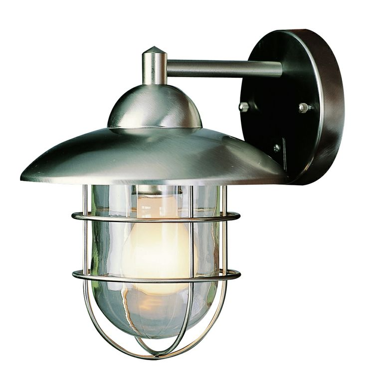 Trans Globe Lighting (4370) Cadiz Stainless Steel 8 Inch 1 Light Coach  Lantern