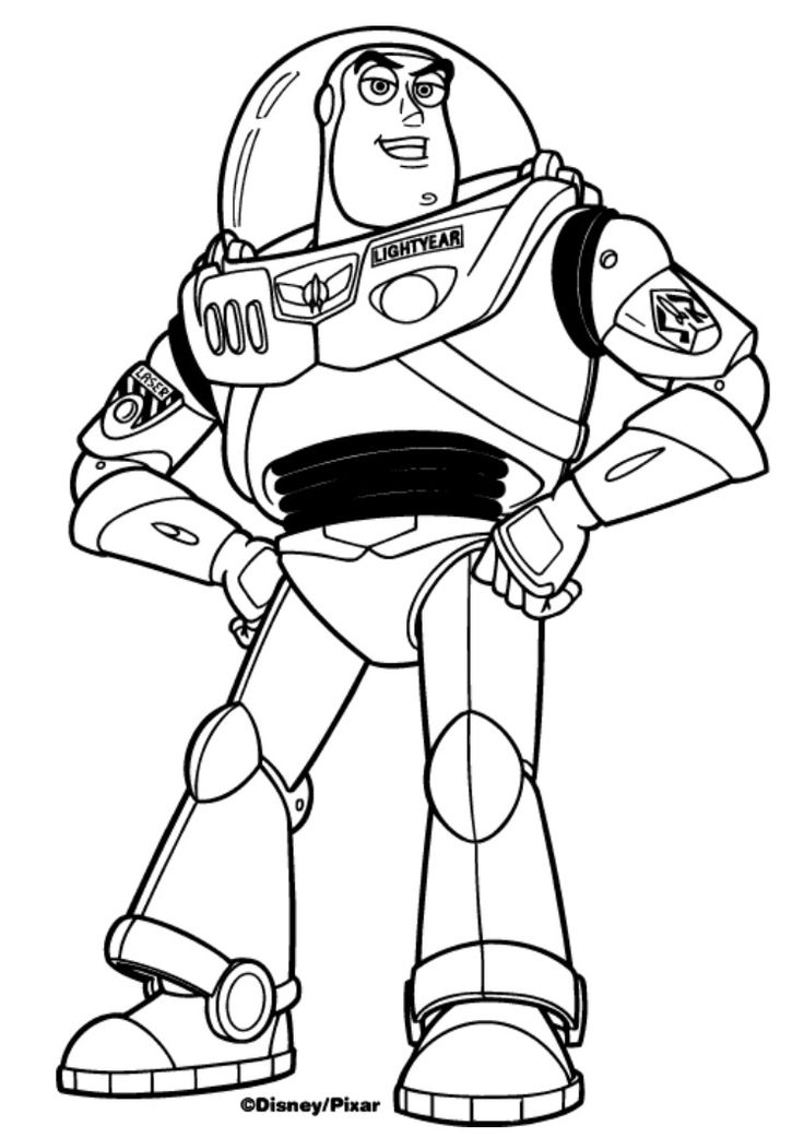 Buzz light year (With images) | Free disney coloring pages ...