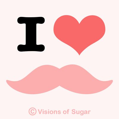 mustache | Super cute mustache with love heart. Comes in strawberry pink and ...