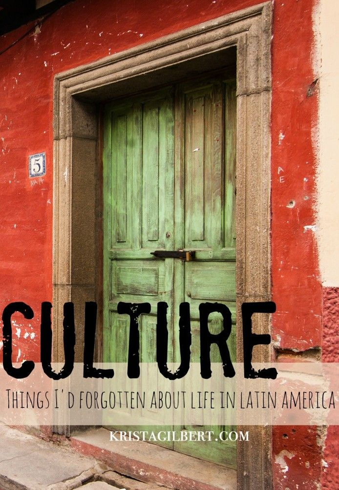 Interesting observations about Latin American culture.