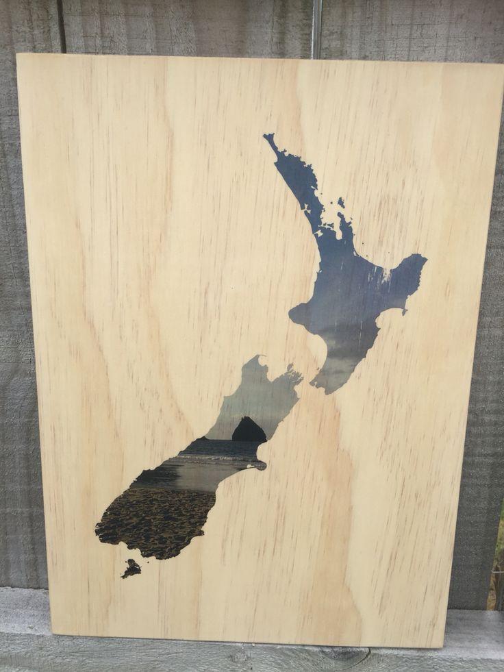 Personalised plywood print